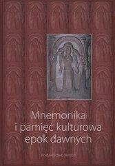 Mnemonika i pamięć kulturowa epok dawnych z płytą CD