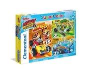Puzzle SuperColor Mickey i raźni rajdowcy 3x48