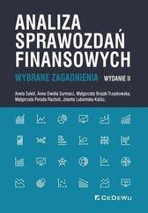 Analiza sprawozdań finansowych Wybrane zagadnienia