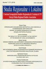 Studia Regionalne i Lokalne nr 1 (71) 2018