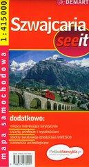 Szwajcaria mapa samochodowa
