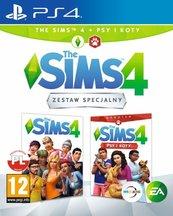 Zestaw The Sims 4 + dodatek Psy i Koty (PS4) PL
