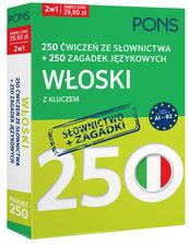 250 ćwiczeń ze słownictwa Włoski + 250 zagadek