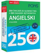 250 ćwiczeń ze słownictwa Angielski+ 250 zagadek