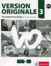Version Originale 3 Kurs języka francuskiego Zeszyt ćwiczeń + CD