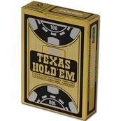 Texas Holdem Gold Jumbo Face czarne