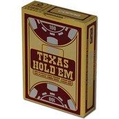 Texas Holdem Gold Jumbo Face czerwone