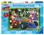 Puzzle podłogowe 24 Mickey i raźni rajdowcy