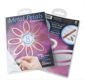 Metal Petals Bookmarks zestaw 8 metalowych zakładek