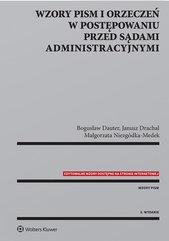 Wzory pism i orzeczeń w postępowaniu przed sądami administracyjnymi