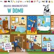 Kapitan Nauka Puzzle obserwacyjne W domu 4+ 54 elementy + plakat XXL