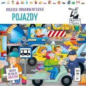 Kapitan Nauka Puzzle obserwacyjne Pojazdy 6+ 104 elementy + plakat XXL