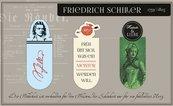 Zakładki magnetyczne Friedrich Schiller 3 sztuki