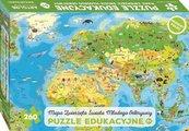 Mapa Zwierzęta Świata Młodego Odkrywcy Puzzle edukacyjne