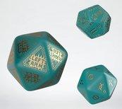 Komplet kości RuneQuest RPG: Turkusowo-złoty - Dodatkowy