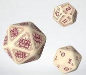 Komplet kości RuneQuest RPG: Beżowo-bordowy - Dodatkowy