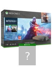 Konsola Xbox One X, 1 TB + Battlefield V + Battlefield 1943 + Battlefield 1: Revolution + gra niespodzianka