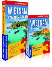 Wietnam, Kambodża, Laos 3w1: przewodnik + atlas + mapa