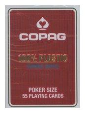 Karty do gry Copag 100% Plastic Poker size Jumbo Index czerwone