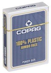 Karty do gry Copag 100% Plastic Poker size Jumbo Index granatowe