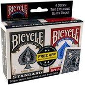 Bicycle: 4 Pack Rider Back (karty klasyczne)