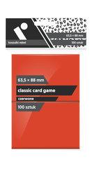 "Koszulki na karty Rebel (63,5x88 mm) ""Classic Card Game"", 100 sztuk, Czerwone"