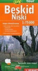 Beskid Niski mapa turystyczna dwustronna