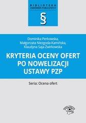 Kryteria oceny ofert po nowelizacji ustawy PZP