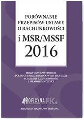 Porównanie przepisów ustawy o rachunkowości i MSR/MSSF 2016