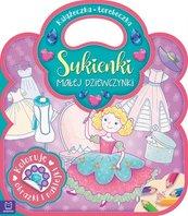Książeczka-torebeczka Sukienki małej dziewczynki Kolorowanka z naklejkami