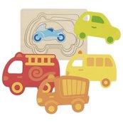 Puzzle warstwowe - pojazdy