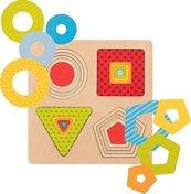 Puzzle warstwowe 4 kształty geometryczne