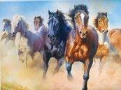 Puzzle 2000 Galopujące stado koni