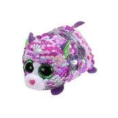Teeny Tys cekinowy kot Lilac