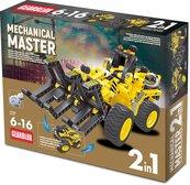 Klocki konstrukcyjne Gearblox Mechanical Master 2w1 - Transporter do drewna
