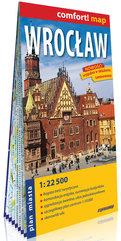 Wrocław laminowany plan miasta 1:22 500