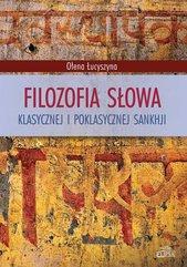 Filozofia słowa klasycznej i poklasycznej sankhji