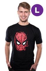 Marvel Comics Spiderman Mask T-shirt L