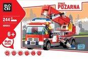 Klocki Blocki Straż pożarna Samochód z podnośnikiem 244 elementów