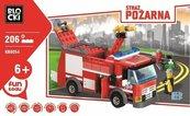 Klocki Blocki Straż pożarna Wóz gaśniczy 206 elementów