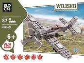 Klocki Blocki Wojsko Samolot 87 elementów