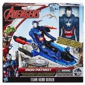 Avengers Tytan Iron Patriot na odrzutowcu