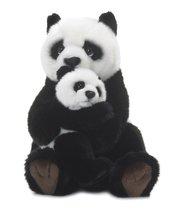 Panda mama z dzieckiem 28 cm