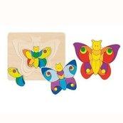 Układanka warstwowa Motylki