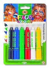 Kredki do malowania twarzy 6 kolorów