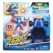 Super Hero Mashers micro Figurka z pojazdem Captain America