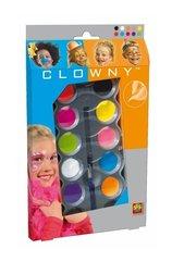 Farby do malowania twarzy - 8 neonowych kolorów