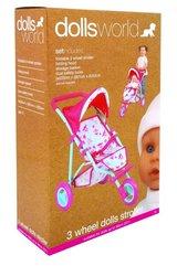 Wózek spacerowy trójkołowy dla lalek do 56cm
