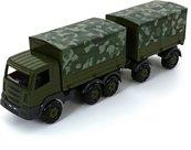 Samochód z plandeką wojskowy z przyczepą Prestiż