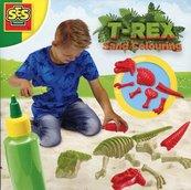 Zabawa w piasku kolorowe dinozaury